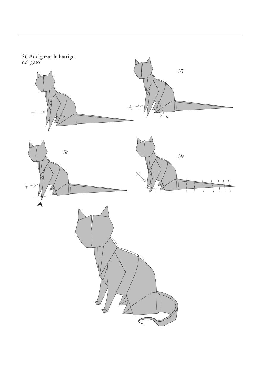 Comment Faire Un Chat En Origami Facile #4: Pinterest
