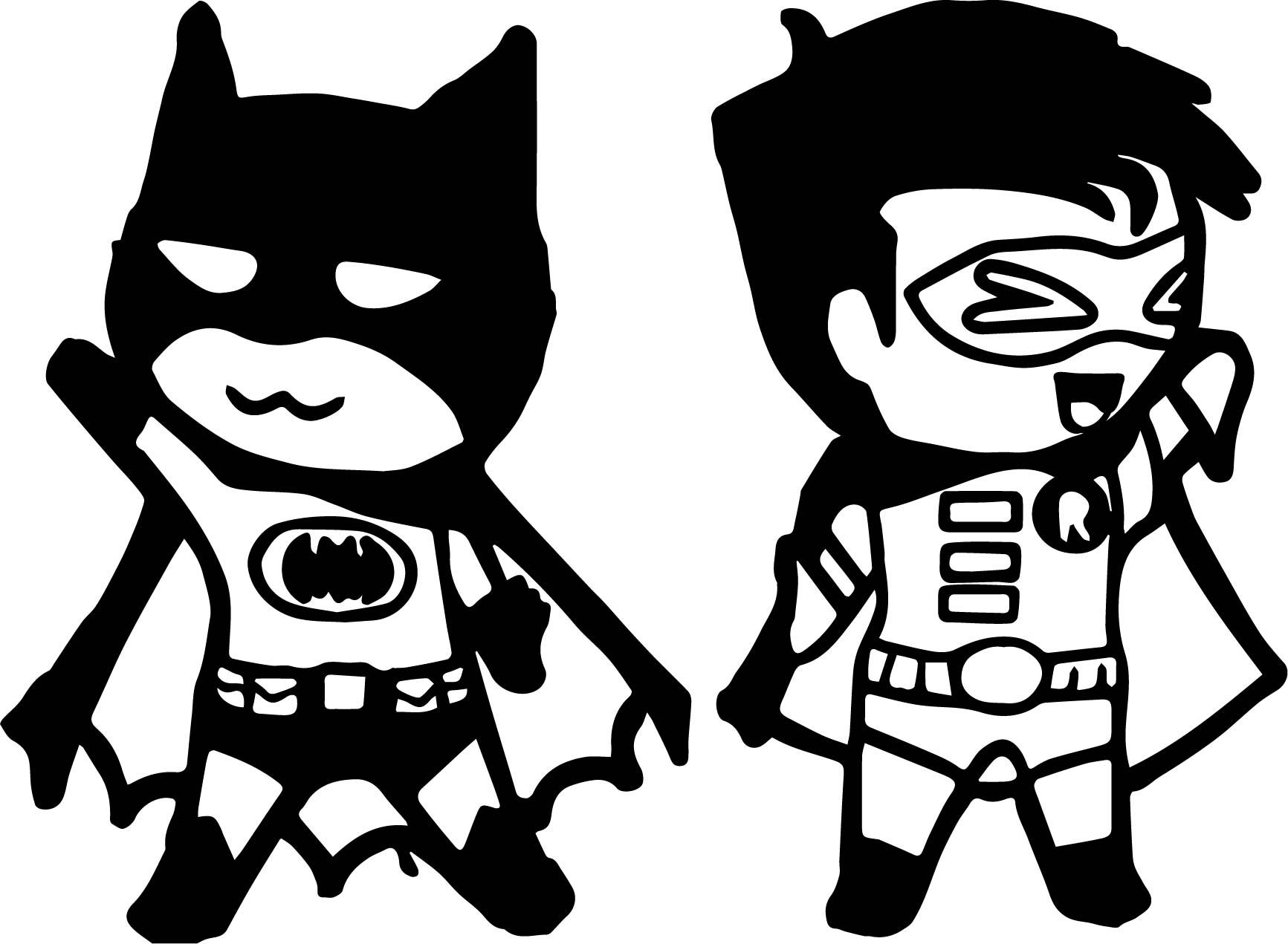 Awesome Chibi Batman And Robin Coloring Page Squirrel Coloring Page Chibi Turtle Coloring Pages
