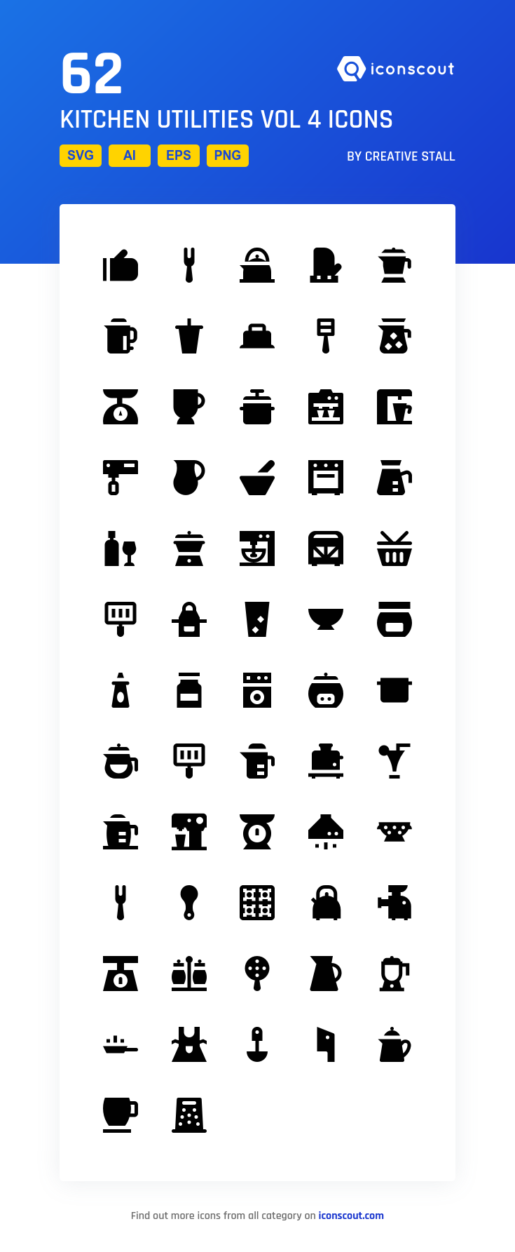 Download Kitchen Utilities Vol 4 Icon Pack Available In Svg Png Eps Ai Icon Fonts Icon Pack Icon Icon Font
