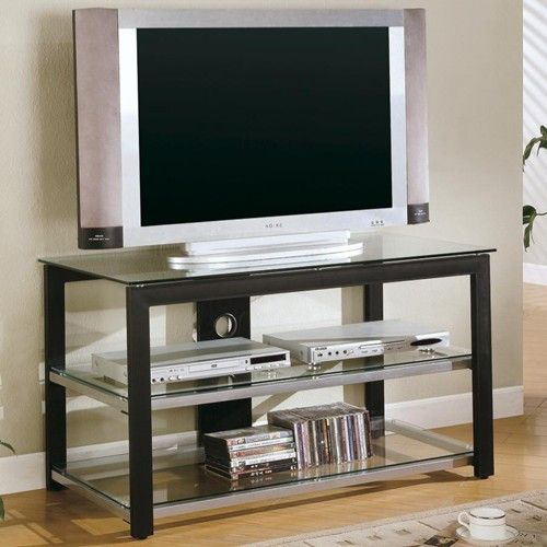 Contemporary Metal And Glass Media Console Living Proyectos
