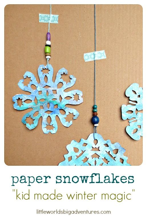 Magical Paper Snowflakes, a Fun Kid Made Art and Craft Idea   Little Worlds Big Adventures