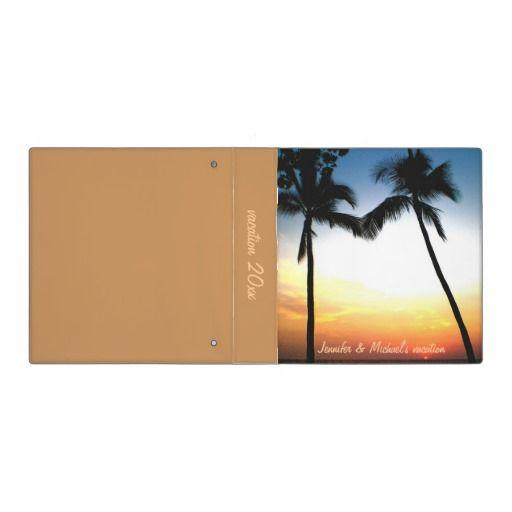 Tropical Beach Photo  Album Binder