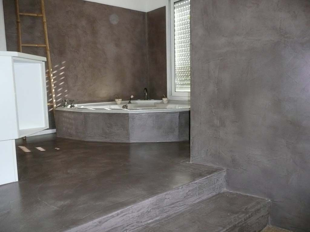 verriere salle de bain beton cir buscar con google b der bathroom pinterest beton. Black Bedroom Furniture Sets. Home Design Ideas