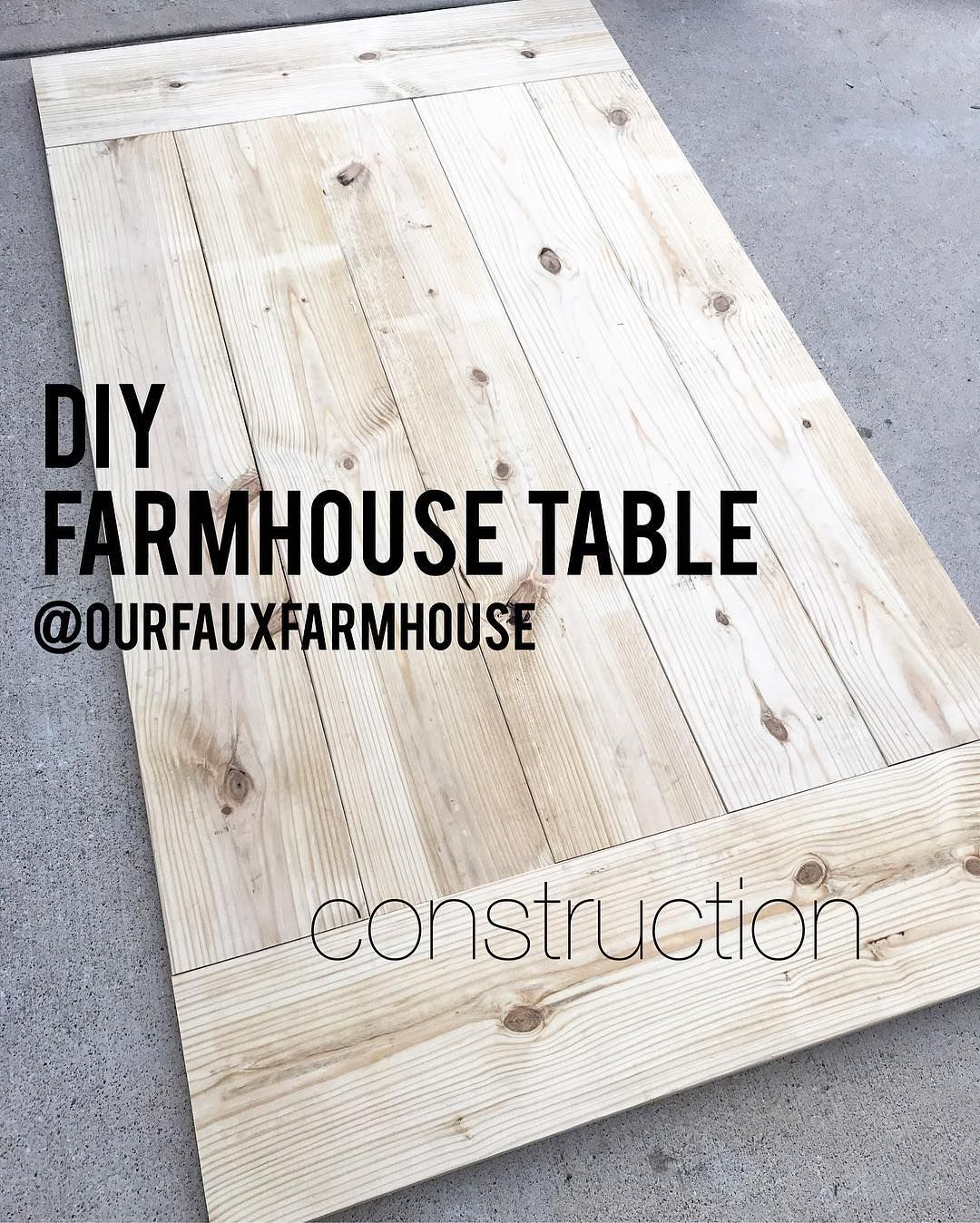 Diy 7 Farmhouse Table Part Ii Construction Please Note On The