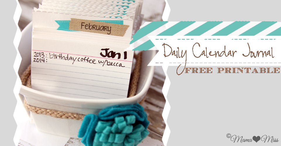 Daily Calendar Journal  MamaMiss  Calendar Journal Daily