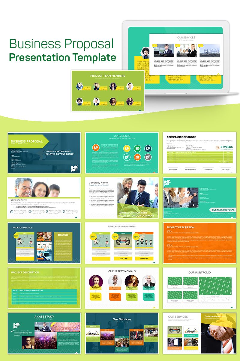 Business Proposal Powerpoint Template Socialmedia Design