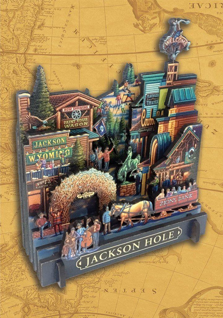 Jackson Hole 3D Puzzle Jackson hole, Jackson hole
