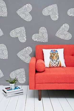Sweetheart Tapestry Throw in Grey