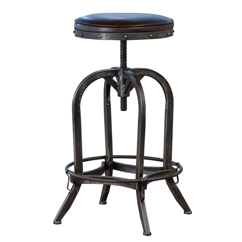 Alkaios adjustable height swivel bar stool bar stools