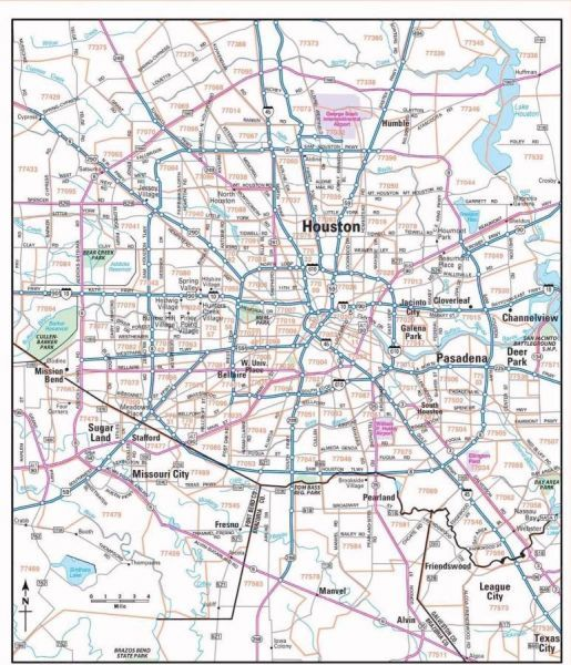 nice Houston zip code map | Holidaymapq | Houston zip code map, Zip ...