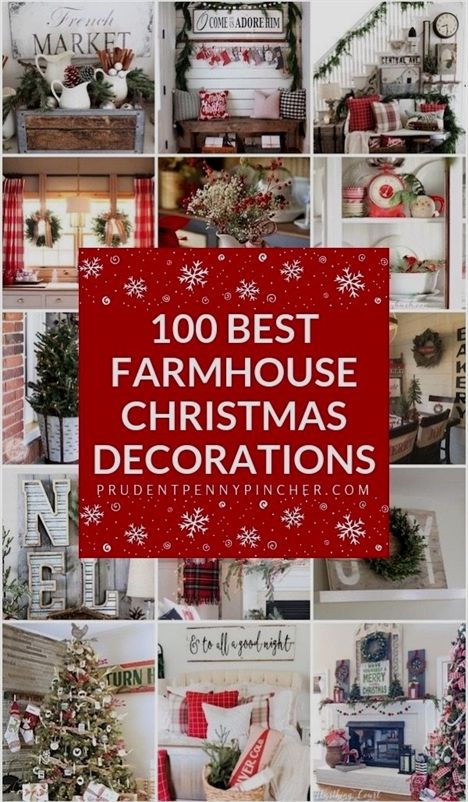 best farmhouse christmas decorations christmasdecorations also rh pinterest