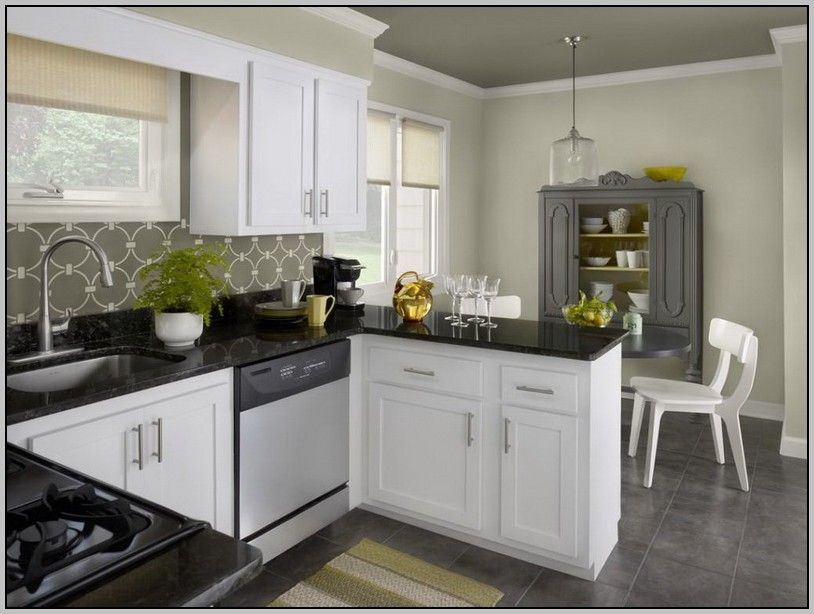 kitchen colors white cabinets black countertops painting from