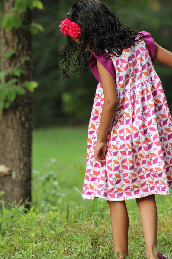 Snapdragon Dress Pdf Pattern On Etsy For Knit Fabrics Long Sleev