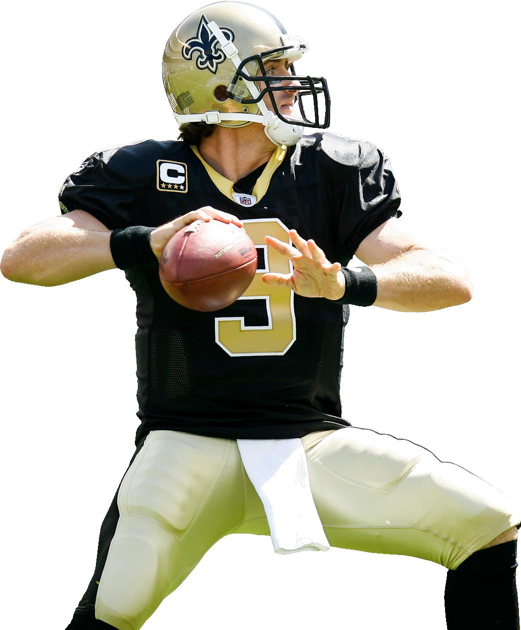 Drew Brees Football Love Saints Football New Orleans Saints Football