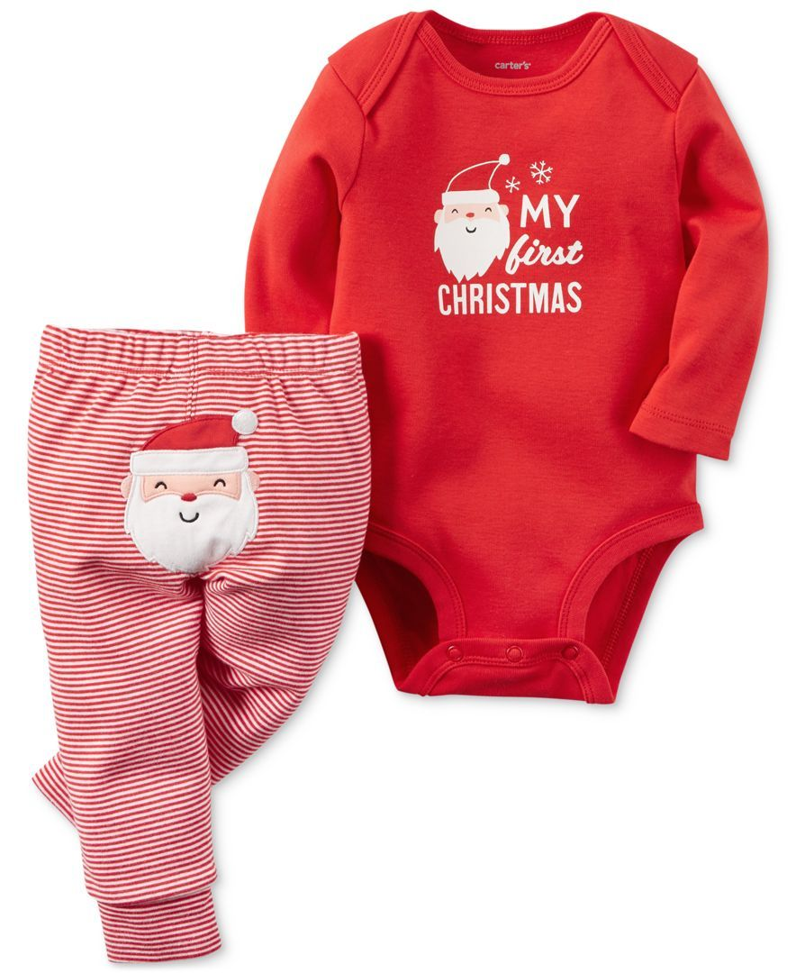 1b513b7dbf22 Carter's 2-Pc. My First Christmas Bodysuit & Pants Set, Baby Boys or Baby  Girls (0-24 months)