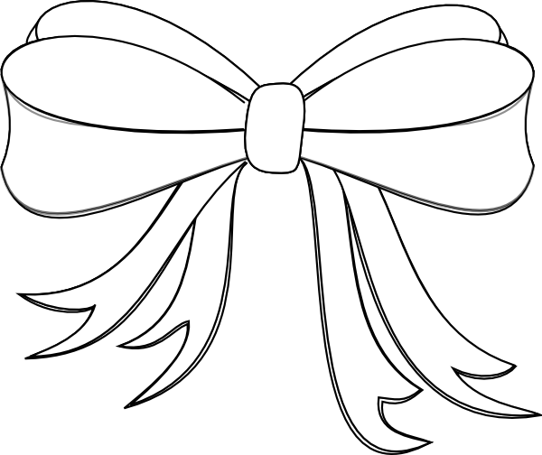 Ribbon And Bow Clip Art White Ribbon Bow Clip Art White Ribbon Black And White Ribbon Bow Drawing