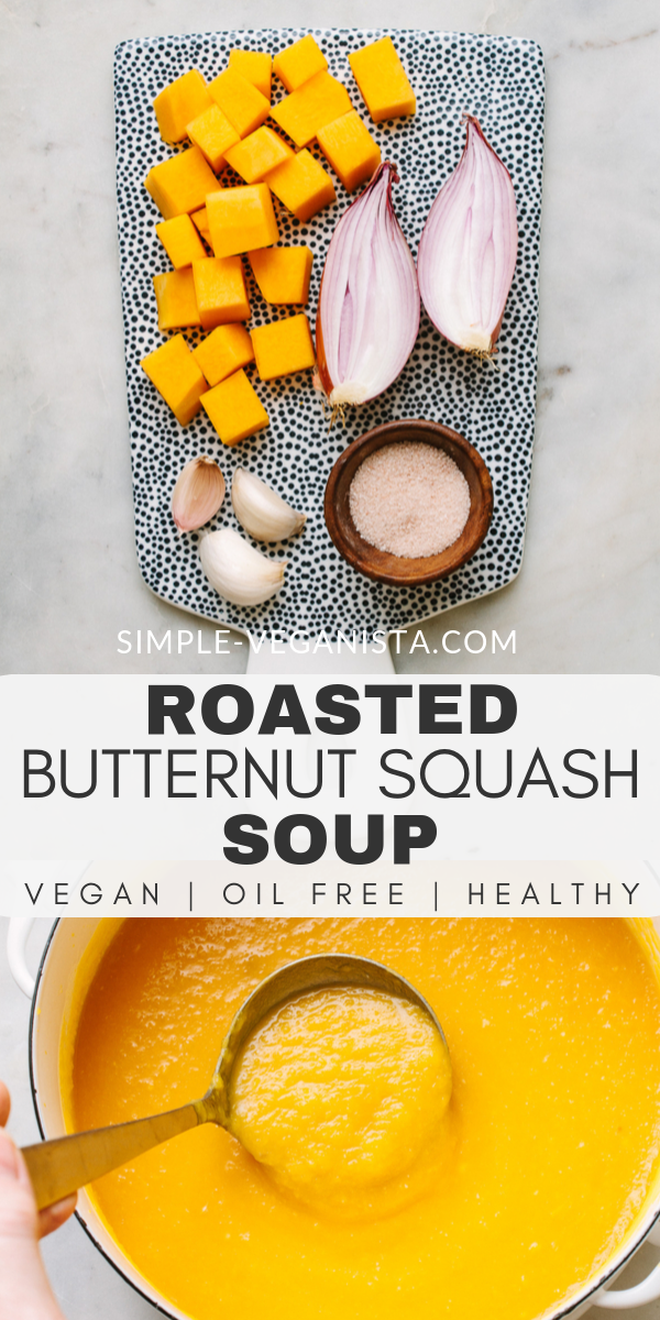 Roasted Butternut Squash Soup - A Healthy