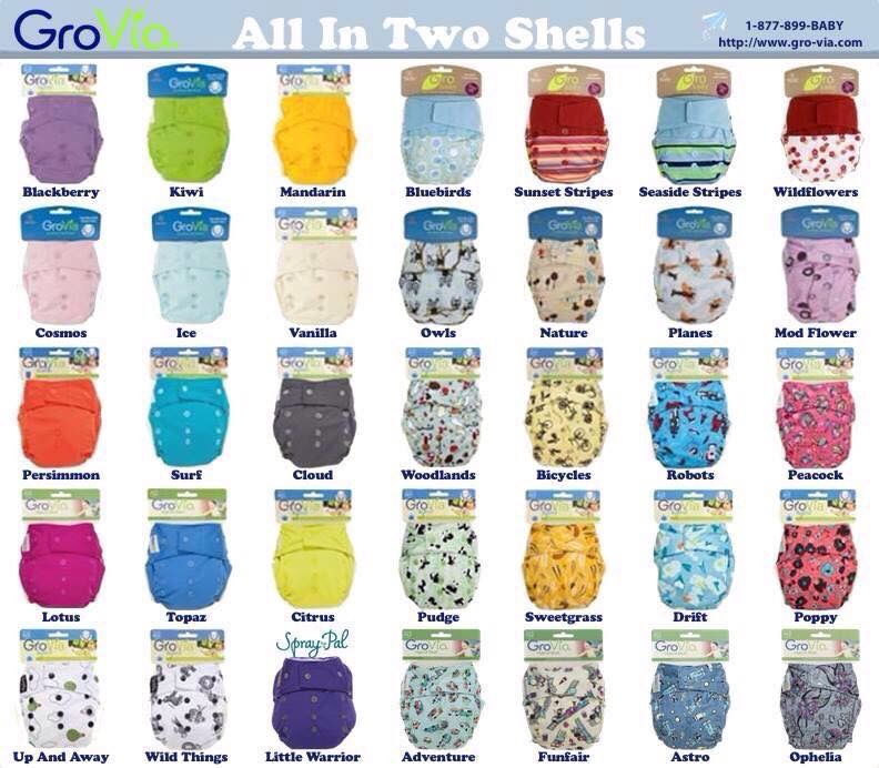 Grovia Color Chart Gro Via Stuff Pinterest Cloth Diapers