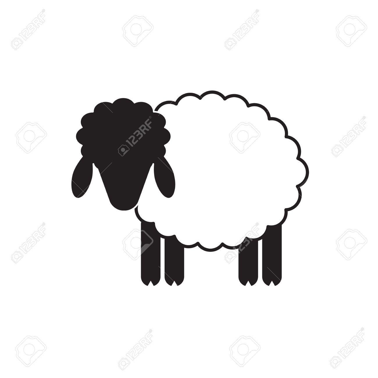 ovejas vector o icono de carnero, plantilla, pictograma. emblema ...