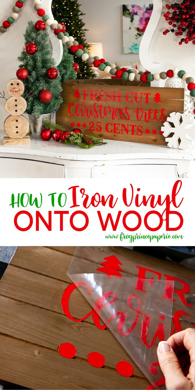 How to Put Cricut Vinyl on Wood with Your EasyPress 2 #craftprojects