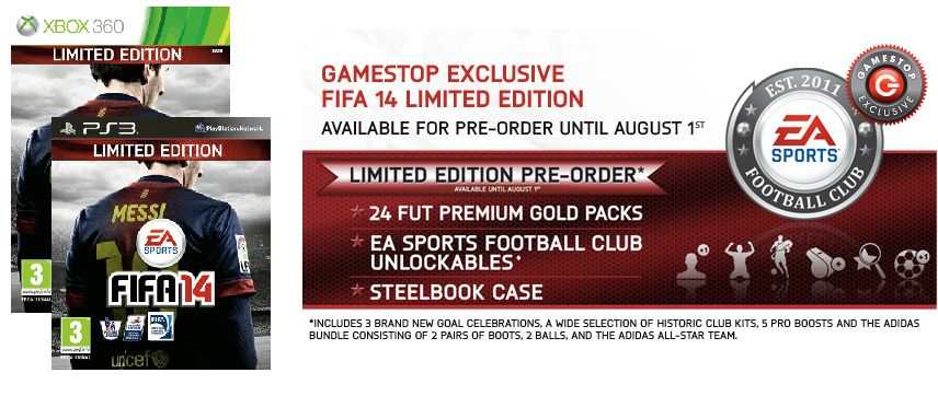 The difference with the Fifa 14 Collectors' Edition and