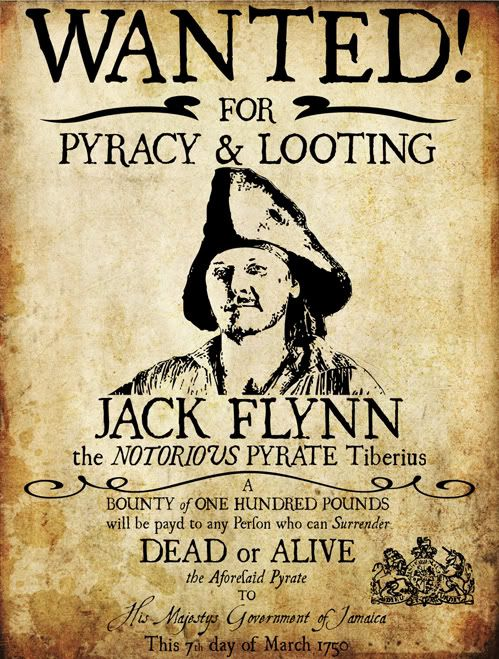 pirate wanted posters - Google Search Pirate Party Pinterest - example of a wanted poster