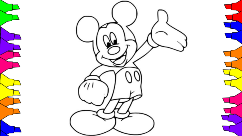 Mickey Mouse Coloring Pages for Preschoolers ( DRAWING