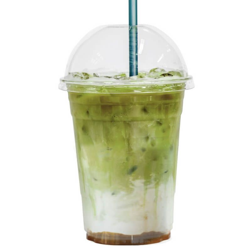 Iced And Salted Caramel Matcha Latte