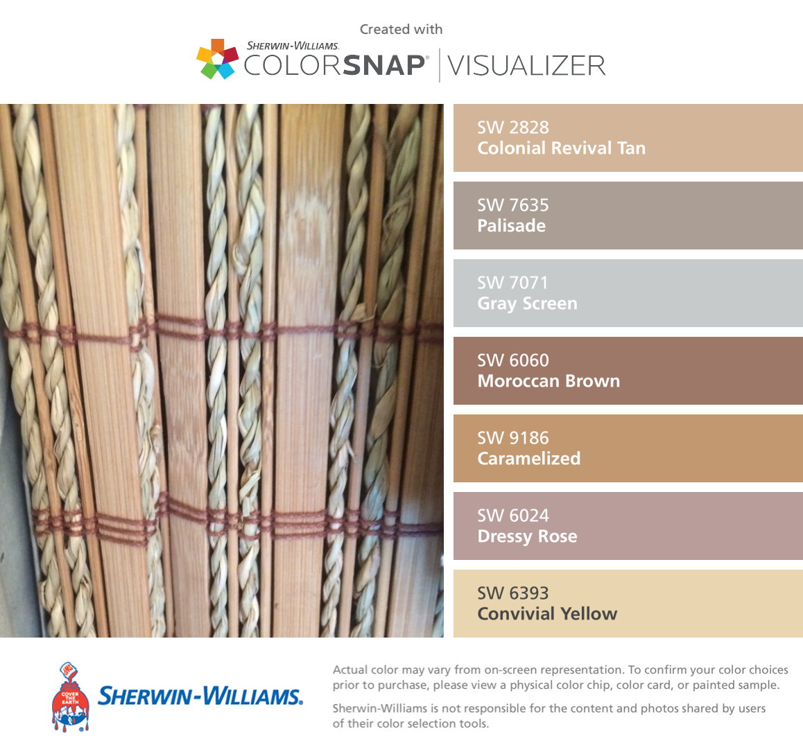 Sherwin williams basket beige photos - I Found These Colors With Colorsnap Visualizer For Iphone By Sherwin Williams Colonial