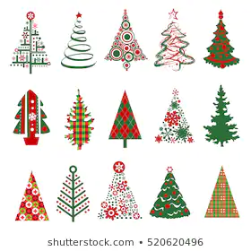 Merry Christmas Tree Stock Illustrations Images Vectors Shutterstock Silhouette Christmas Christmas Vectors Holiday Painting