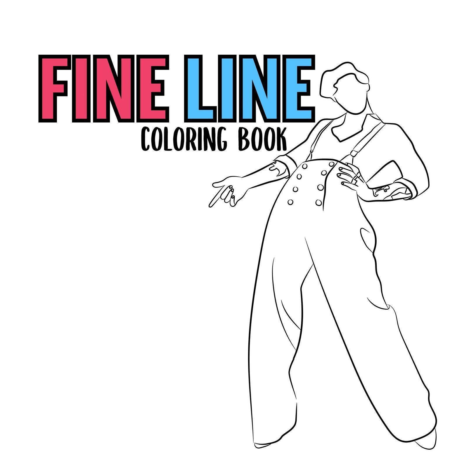Harry Styles Coloring Book Digital Etsy In 2020 Coloring Books Harry Styles Color