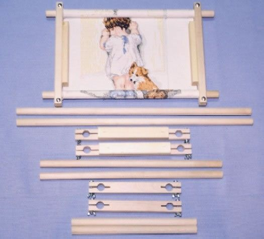 frank a edmunds needlepoint cross stitch multi size scroll rod frame set