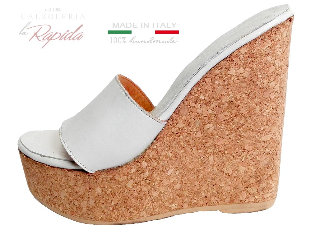 rilasciare informazioni su stile moderno Sconto speciale Zeppe shoes per donna, ciabatte con zeppa in sughero di calzoleria ...