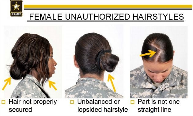 Army Unauthorized Hairstyles For Women Military Hair Military Haircut Hair Styles