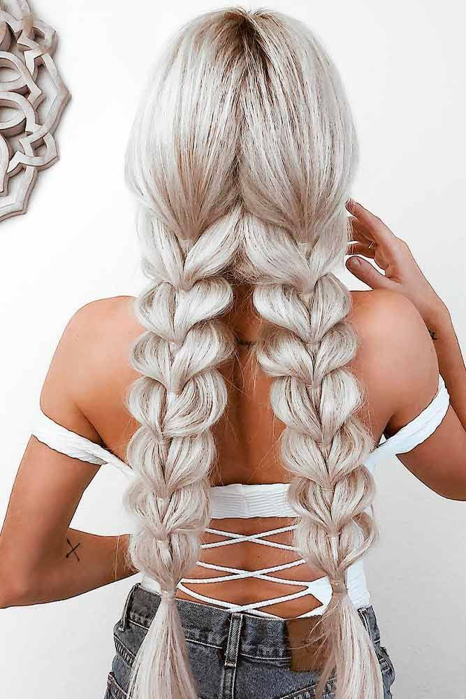 Photo of Cute pigtails for adults: half up or braided even buns hairstyles you like