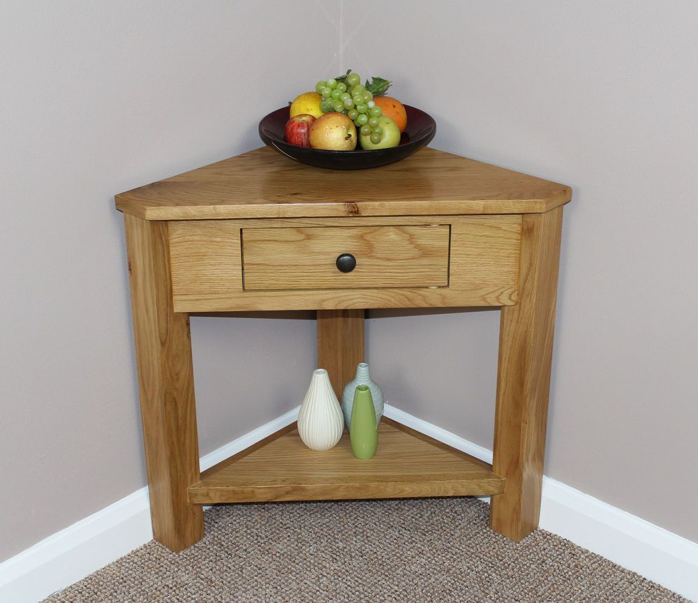 Oak Corner Console Table Next Project Me Thinks Console Table