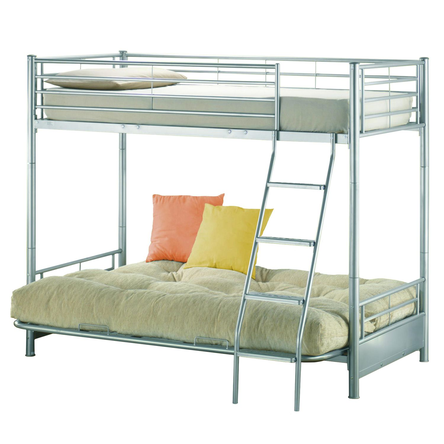 Metal Bunk Bed With Futon On Bottom Interior Paint Color Ideas
