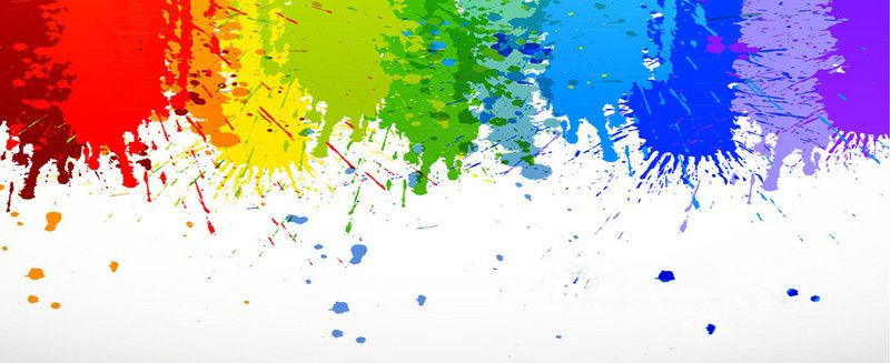 Rainbow Paint Splashes Banner Background Painting Paint Splash Rainbow Paint Banner multicolor background hd images