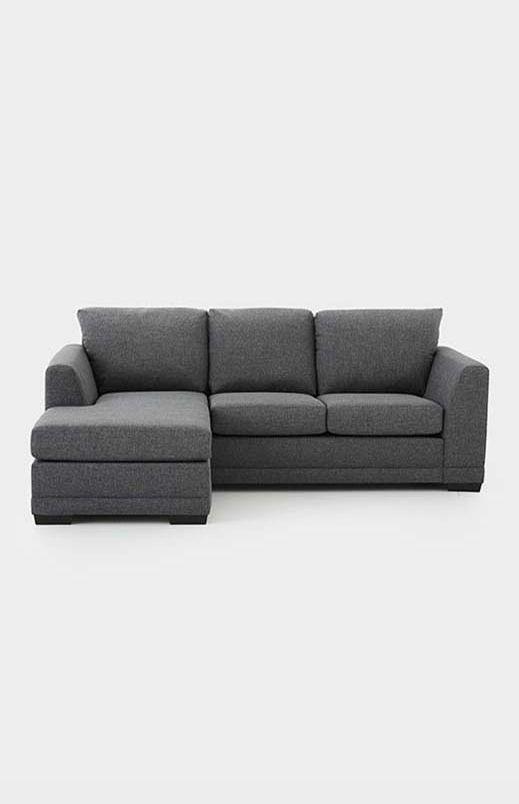 image pour sofa sectionnel reversible en tissu gris a partir de economax deco cinema grands