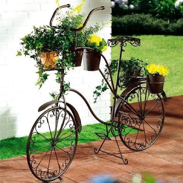 Ideas creativas hacer macetas para bicicletas plantas - Bicicleta macetero ...
