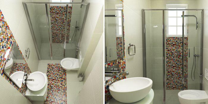 Salle de bain italienne petite surface u2013 les deux pieds sur terre - idee de salle de bain italienne