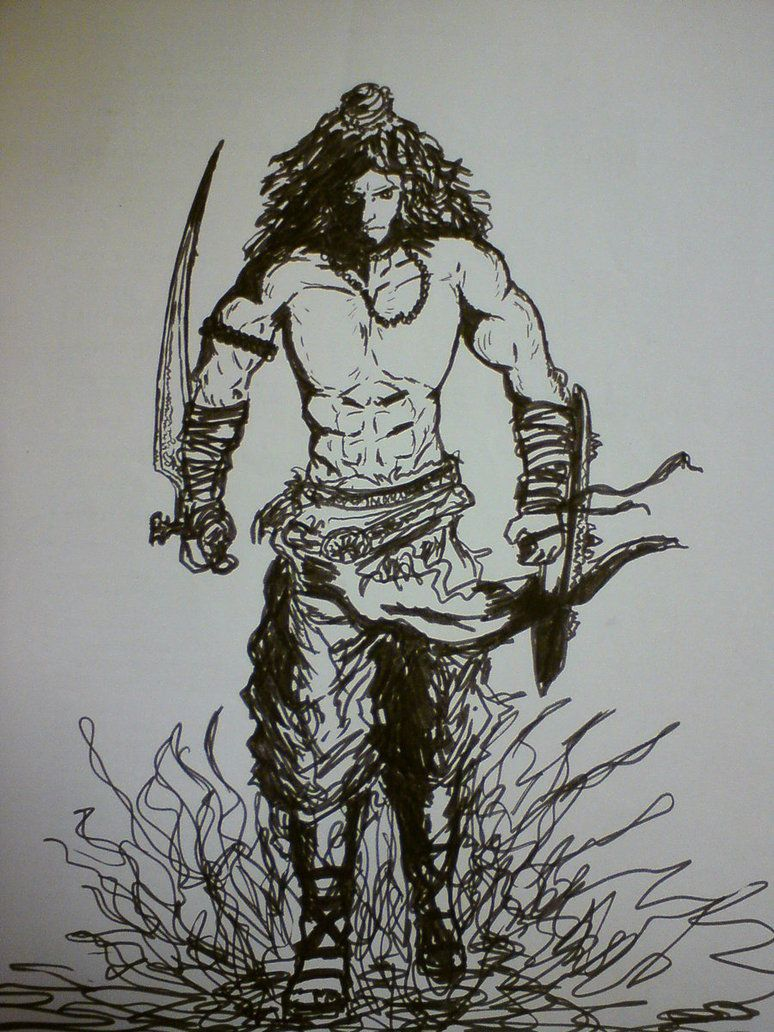 Angry Lord Shiva Full Hd Image With Pencil