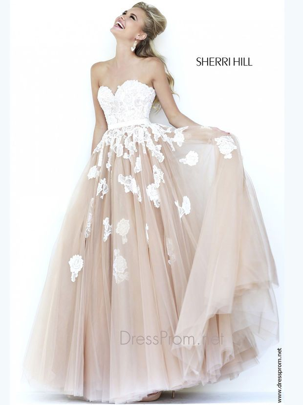 strapless sweetheart prom ball gown via sherri hill//   FANCY ...