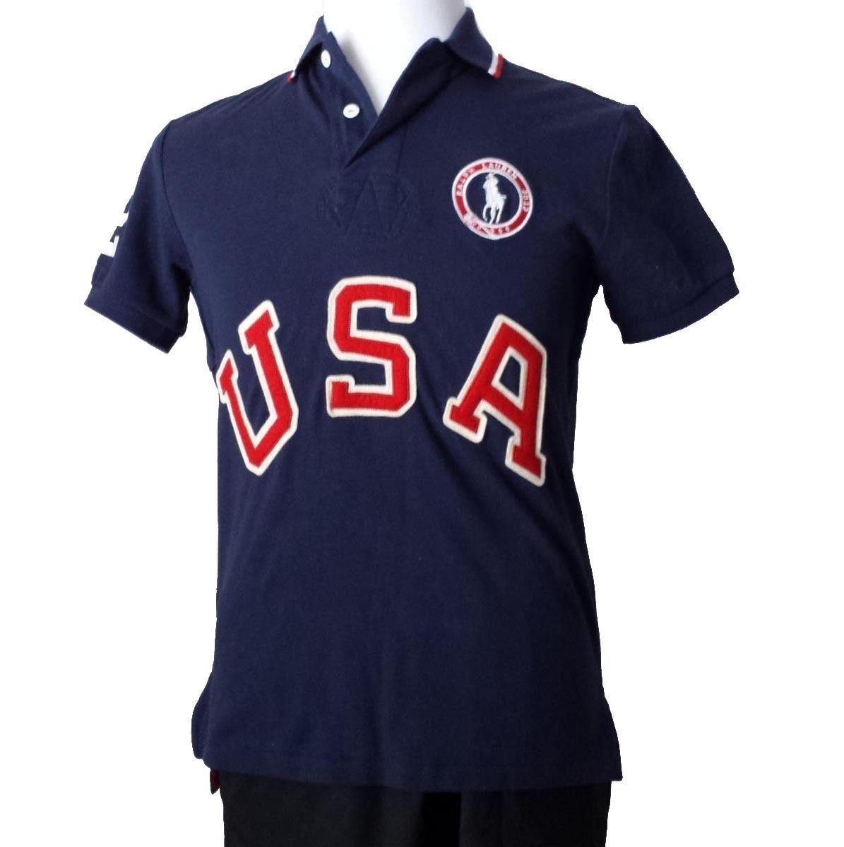 #men shirt POLO Ralph Lauren Men\u0027s POLO shirt Size M Navy Blue cotton USA  under