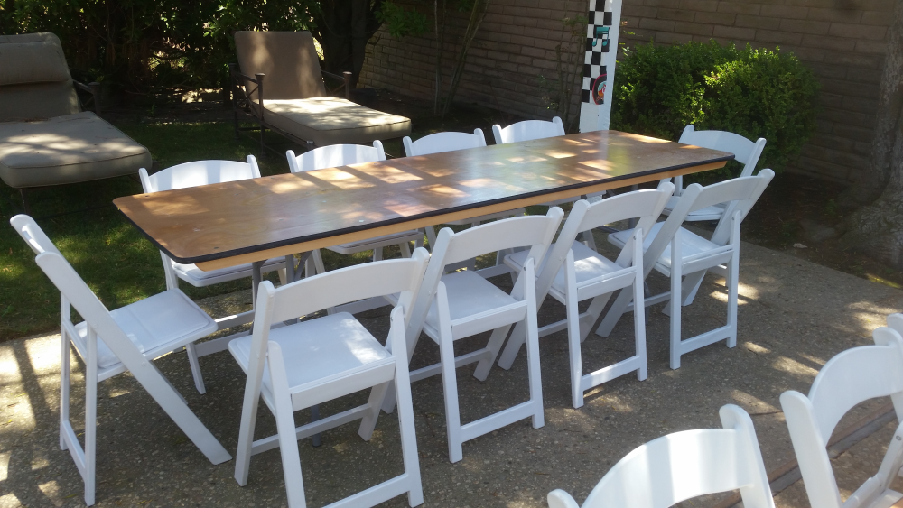 8 Ft Table Rental White Padded Chairs Banquet Tables Plastic Garden Chairs Toddler Table And Chairs