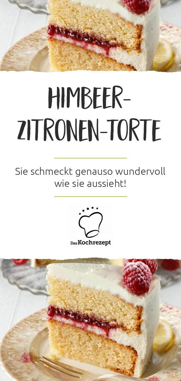 Himbeer-Zitronen-Torte