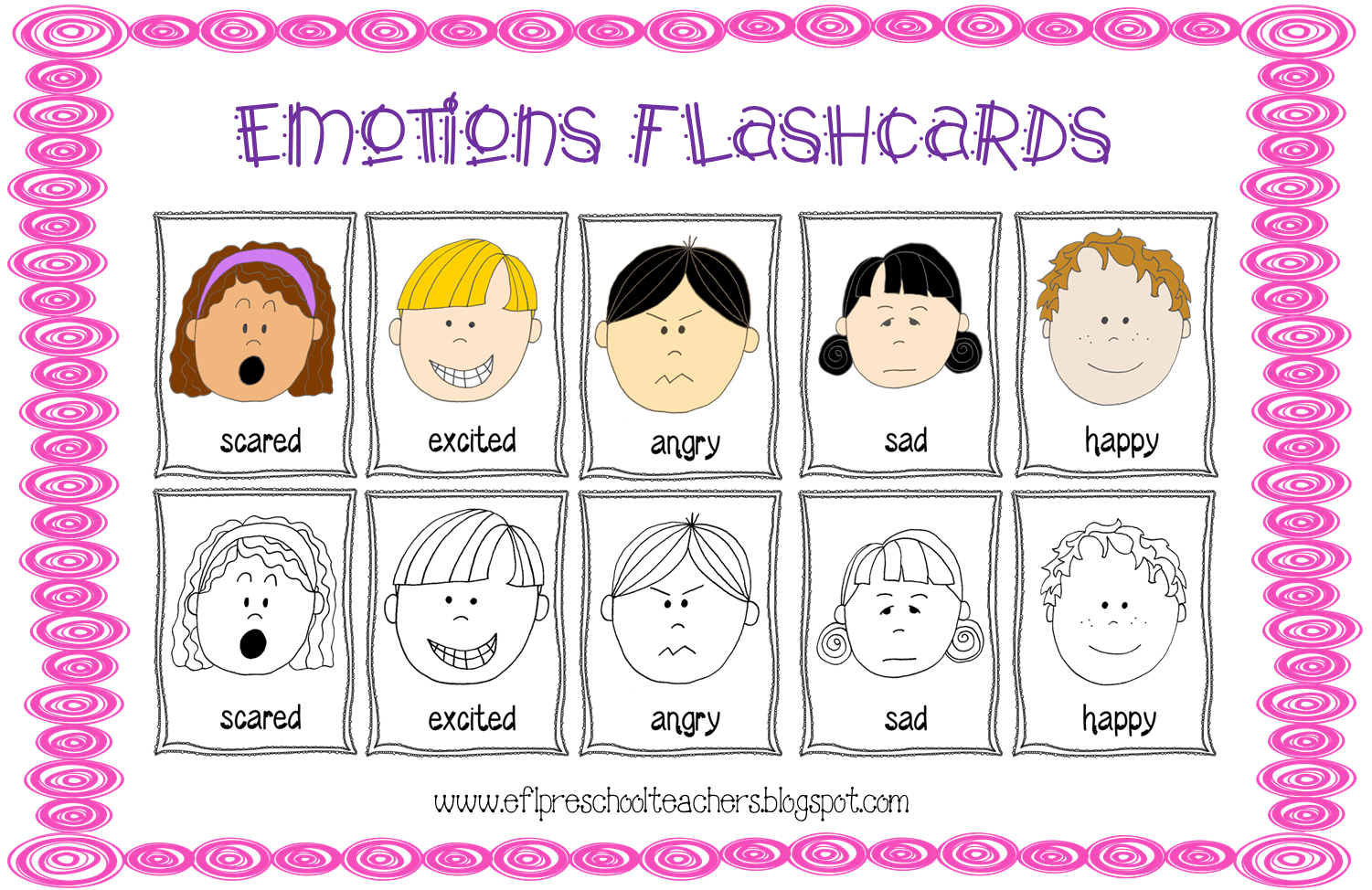 Esl Feelings Emotions Theme Flashcards