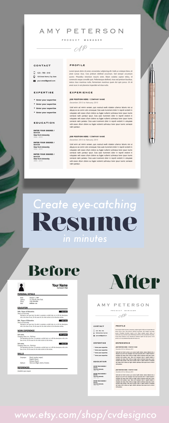 to the CvDesignCo! Every Resume we design is