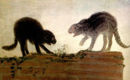 """Francisco de Goya y Lucientes (Spanish, 1746–1828) - """"Riña De Gatos"""" (detail) - Museo del Prado, Madrid"""