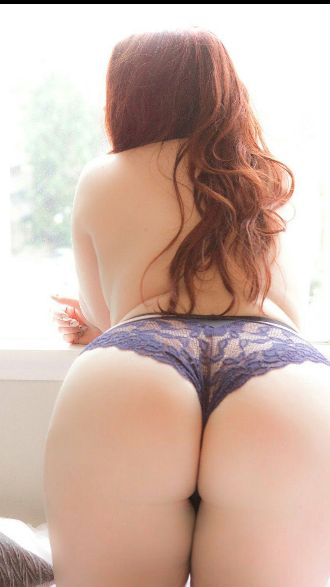 Redhead women in nylon panties